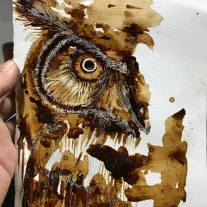 I have a thing with wasting coffee to create coffee paintings